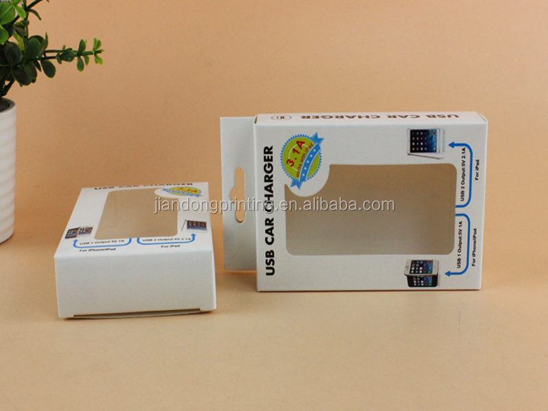Electronic USB paper box with window