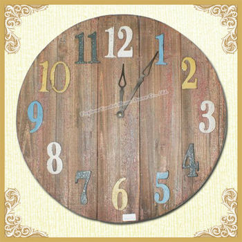 YUNFEI Large Solid Wood Round Clock On Sale