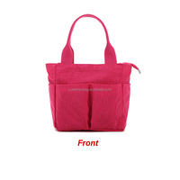 2016 fashion yummy diaper bag for baby, high quality red mummy hand bag