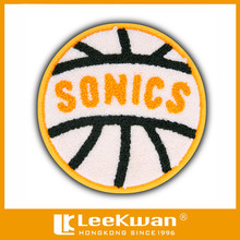 Customized Shape and Design basketball team embroidery chenille patch