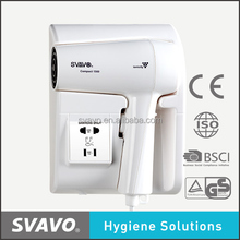 2017 Newest professional wall mounted hair dryer for hotel