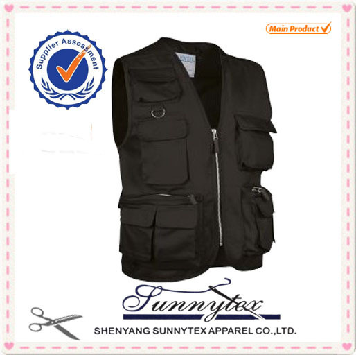 Custom made work safety mesh cheap fishing vest