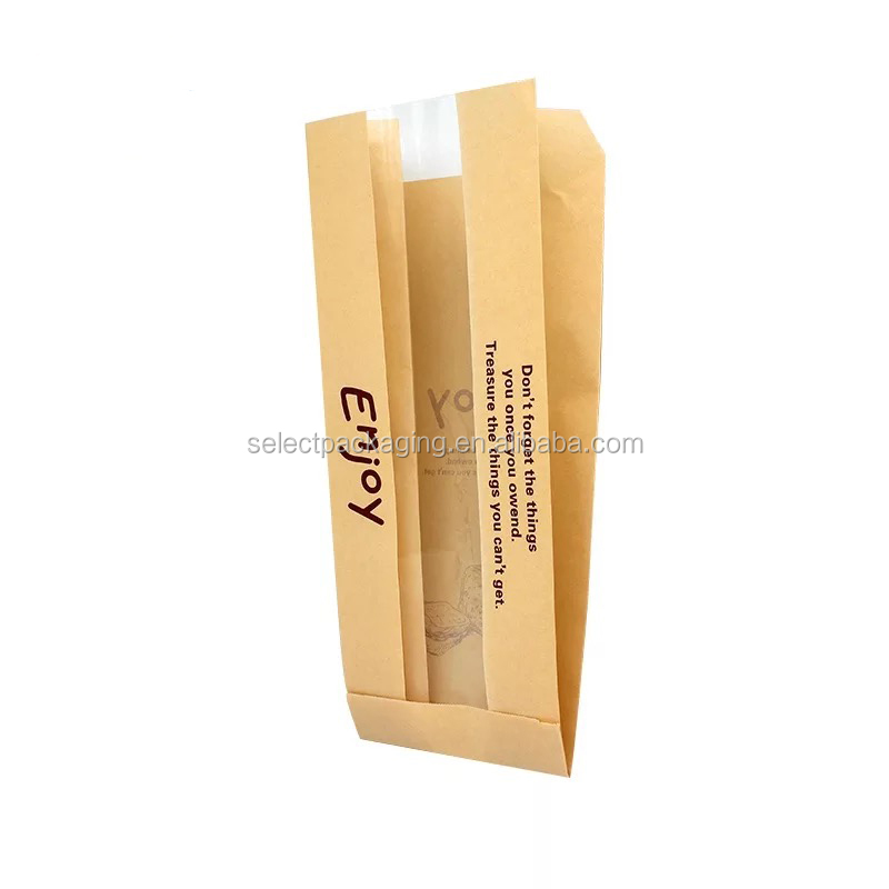 Custom Printed Stand Up Wholesale Bread Plastic Packaging Bag