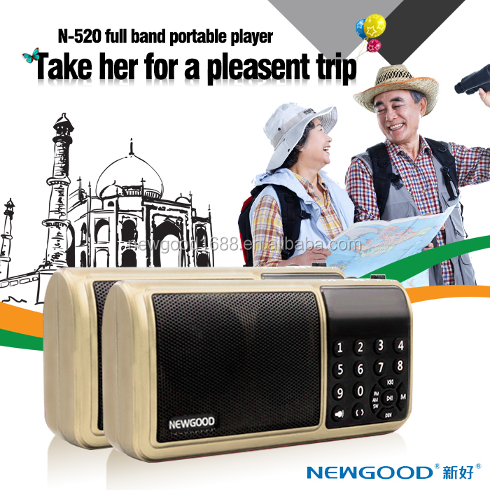Portable outdoor USB TF card music playing portable am/fm radio <strong>speaker</strong> with digital LED Flashlight