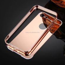 For iPhone X 8 Luxury Gold Plating Aluminum Metal Frame Bumper+ Mirror Acrylic Hard Back Cases For iPhone X 8 7 6 5 plus bumper