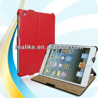 2013 New product for ipad mini cover,Folio PU leather case for ipad mini