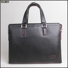 Top layer leather laptop briefcase cross body bag for man