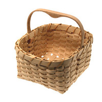Handmade Bamboo Basket Use For Storage