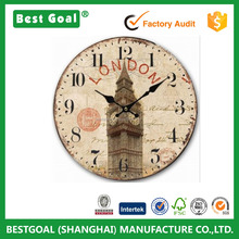 Retro Vintage UK London Big Ben Clock Home Decorative wood Wall Clock