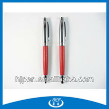 Promotional Gift Red Leather Metal Roller Pen C Pen