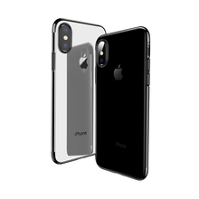 For iPhone X Case Luxury, Full Protective Flexible Transparent Electroplate Ultra Thin Soft Clear TPU Cover Case For iPhone X
