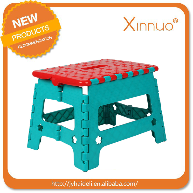Cheap good quality folding plastic step stool for wholesale,factory supply