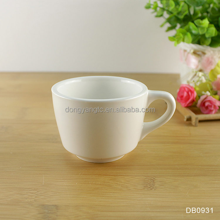 6oz 165ml pure beige white solid colour ceramic gloss matte porcelain turkish morning samll coffee drinking cappuccino cup mug