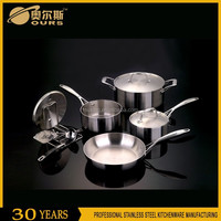 S/S 304 European design copper bottom stainless steel cookware set