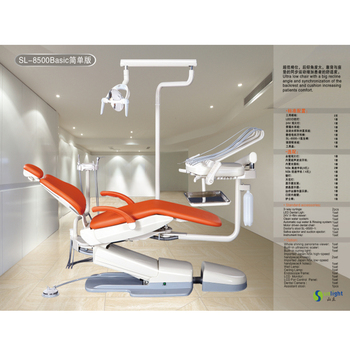 Lastest design Electricity Sunlight dental chairs including led operating light With Professional Technical Support