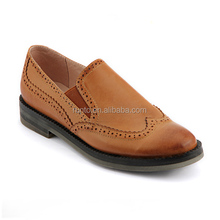 Alibaba shoes manufacturer hot sale latest ladies design cheap brown high quality genuine leather casual shoes for women