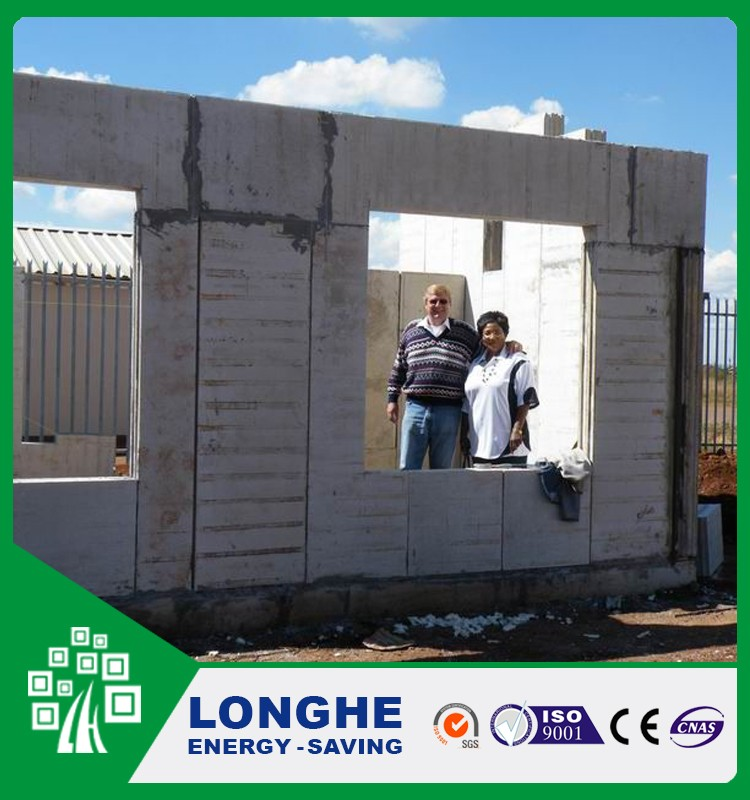 Longhe eco friendly reinforced expanded polystyrene cement sandwich panel