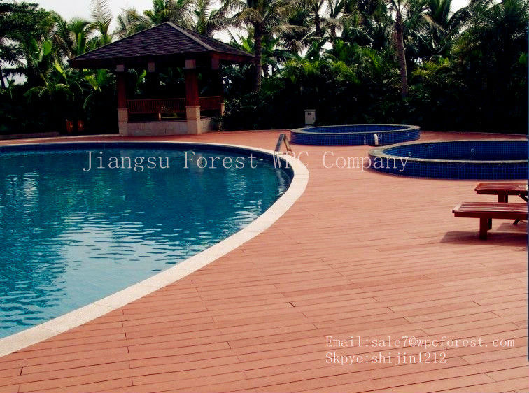 swimming pool decking wood flooring anti-slip wpc outdoor swimming pool flooring fiberglass deck flooring