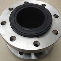 DN100 single sphere rubber expansion bellows with floating flanges