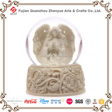 Custom Religious Resin Glass Snow Globe,Angel Decoration Water ball