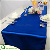 Navy blue satin runner,satin cloth for decoratons