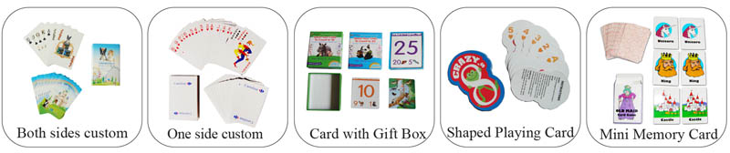 Kids Learning paper playing card Educational flash cards