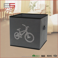StorageManiac Folding diamond bike Storage Bin, Open Storage Basket with Handles