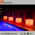 led cube light solar light/ led cube lighting chair/ led night club plastic bench