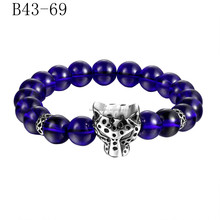 New coming good quality popular stainless steel hot sale lion head beads bracelet