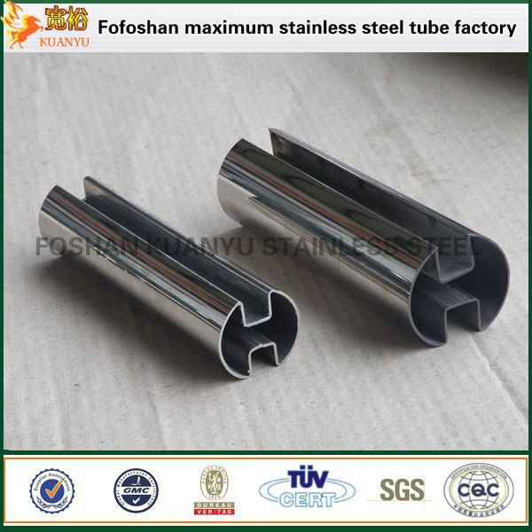 Irregular Size 304 Stainless Steel Slot Tube For Handrail