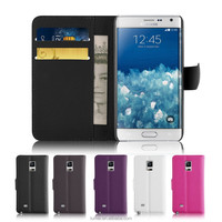 Magnetic Wallet PU Leather Flip Case and Screen Protector For Samsung Galaxy Note Edge