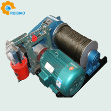 Electric winch control box for construction