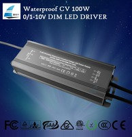 100w ip67 0/1-10v constant voltage dimmable 12v power supply 24v led driver