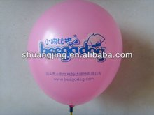Latex balloon with letter printing