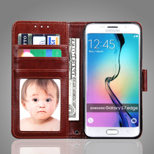 Customized Modern Style PU leather case for samsung s7 edge