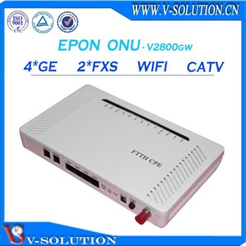 V-solution ftth triple play 2fxs voip wifi iptv 4ge onu epon