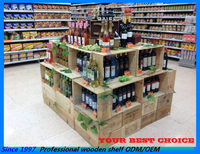supermarket red wine display stands racks shelf with boxes for promotion