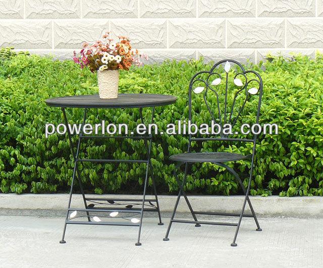 Eco amichevole metallo battuto ferro nero mobili da for Mobili da giardino metallo