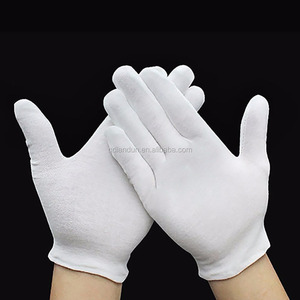 White Inspection Cotton Work Gloves Coin Jewelry Worker Etiquette Glove (Thin)