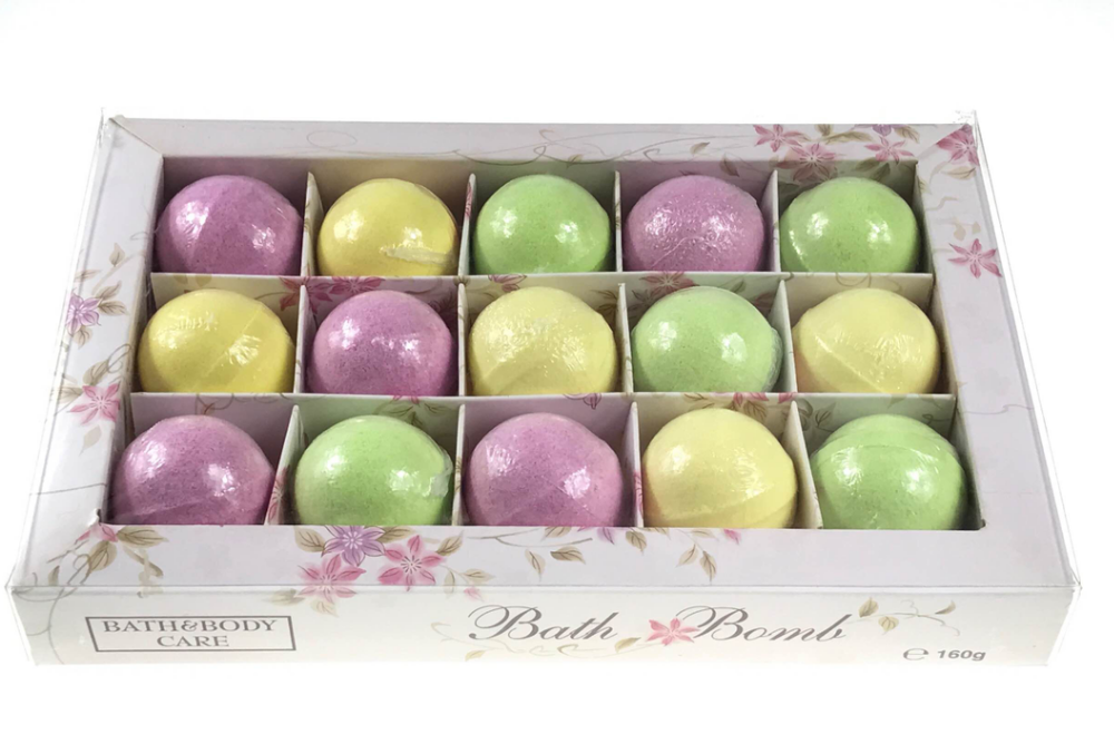 90-95g spa scented fizzy bath bombs gift set for festival gift