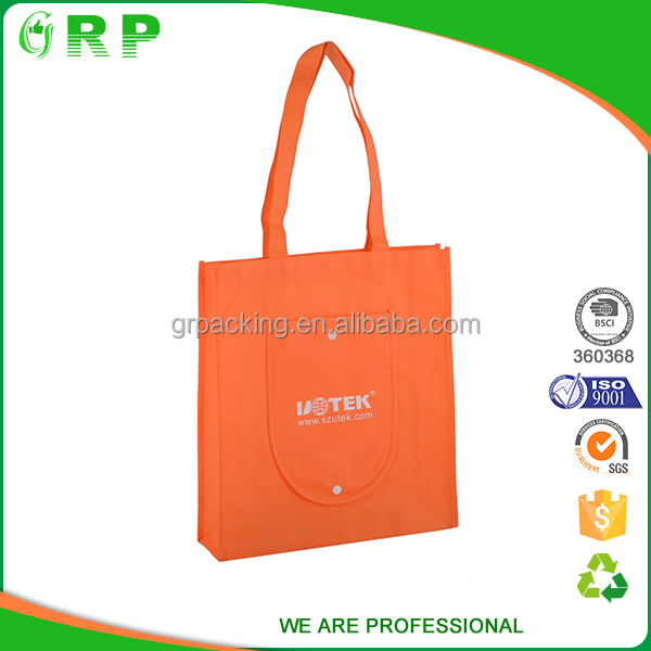 Fashion printing portable shopping promotional bag nonwoven with cross sewing
