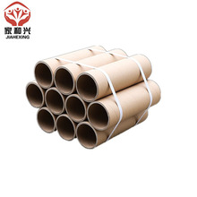 Custom printed black brown kraft cardboard paper roll roller tube packaging manufacturing factory shipping tube for glass bottle