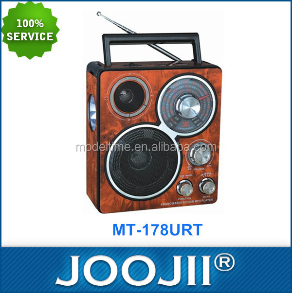 Popular NEW USB Rechargeable AM FM Radio with Torch Light