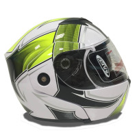 flip up motorcycle helmet with double visor and ABS material