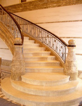 Quality assured perdurable elegant line marble stair