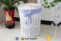 2016 high quality cheap price wicker linen laundry basket with lid