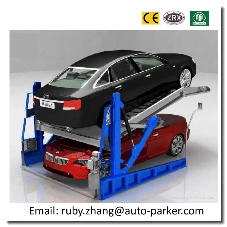 2 Level Parking Lift Simple Tilting Home Mini simple hydraulic car parking lift Two Post Residential Car Lift