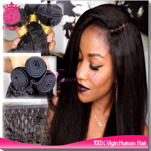 wholesale human hair moroccan remy hair weave 7a grade natural black yaki hair extension for black women