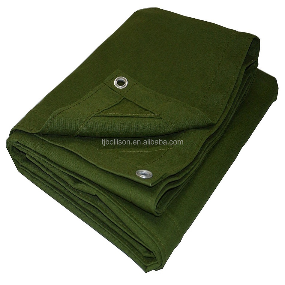 500gsm Breathable Canvas Tarps, Top Quality Canvas Tarpaulin For Truck Cover