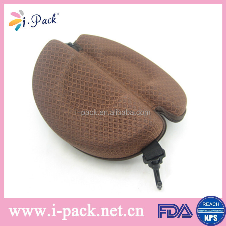 Custom soft semi hard cloth sunglass storage case/EVA sun glasses case/spectacle packaging box case
